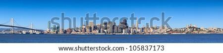 San Francisco skyline panorama - stock photo
