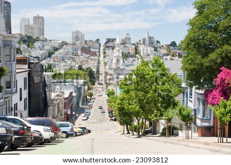 San Francisco street - stock photo