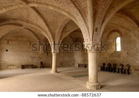 San Galgano Abbey (Tuscany) - stock photo