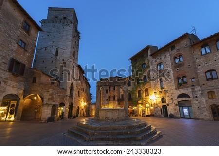 San Gimignano Medieval Village,Tuscany, Italy, Europe - stock photo