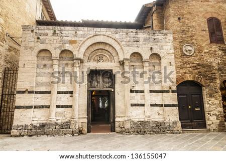 San Gimignano (Siena, Tuscany, Italy) - Ancient buildings - stock photo
