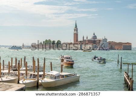 San Giorgio Maggiore, Island in Venice, Italy - stock photo