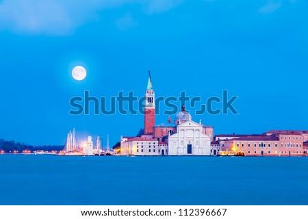 San Giorgio Maggiore Island, Venice, Italy - stock photo