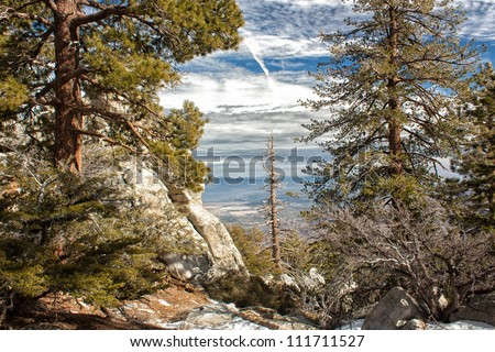San Jacinto Mountain vista - stock photo