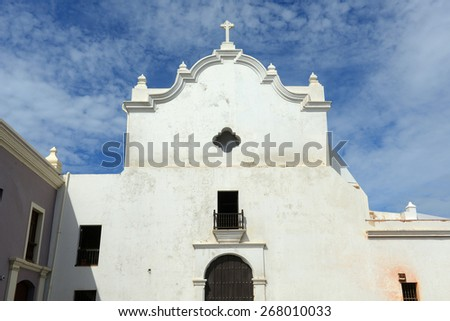 San Jose Church, built in 1532, is a Spanish Gothic architecture in Old San Juan, Puerto Rico. - stock photo