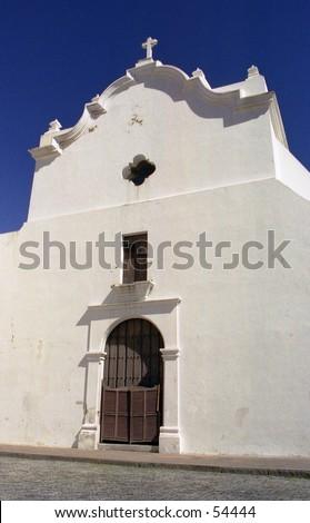 San Jose Church located in San Juan, Puerto Rico. - stock photo