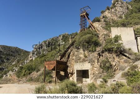 San Luigi Mine. Sardinia/Abandoned mine of San Luigi. Sardinia. - stock photo