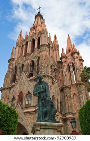 San Miguel De Allende St Michael Cathedral. - stock photo