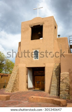 San Miguel Mission - stock photo