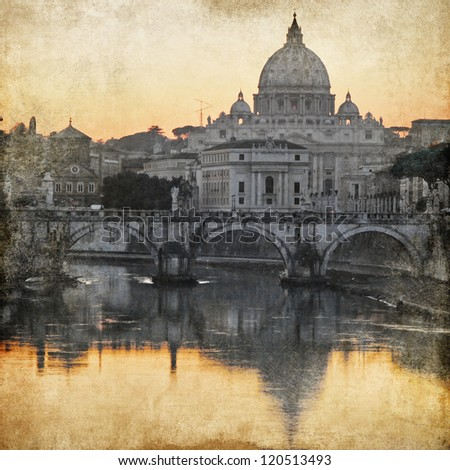 San Pietro basilica. Rome. retro styled picture - stock photo