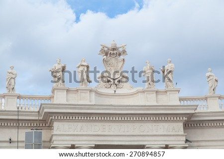 San Pietro Cathedral , Rome, Italy - stock photo