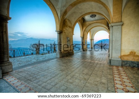 sanctuary arcade - stock photo