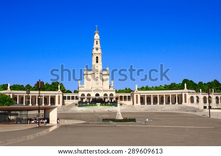 Sanctuary of Our Lady of Fatima, Fatima, Portugal - stock photo