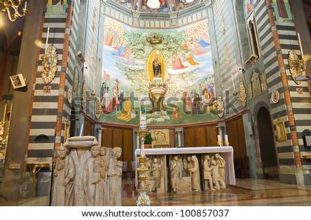 Sanctuary of Our Lady of the Oak. Bettola.Emilia- Romagna.Italy. - stock photo
