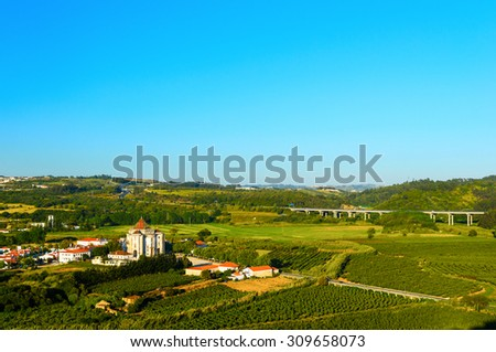 Sanctuary of Senhor Jesus da Pedra, Obidos, Portugal - stock photo