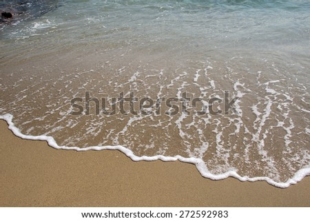 Sand beach / Sand beach background, lomo style. - stock photo