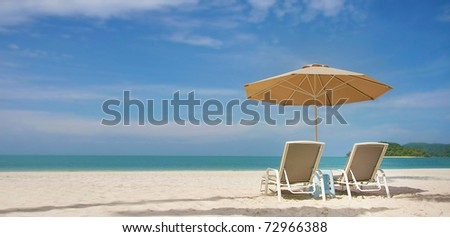 sand beach view - stock photo