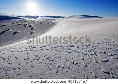 Sand Dune at White Sands National Park - stock photo