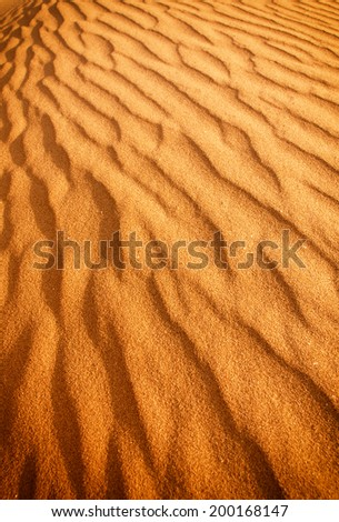 Sand dune background - stock photo