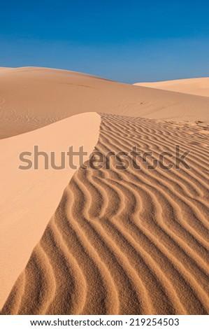 Sand Dune in Mui Ne (South Vietnam) - stock photo