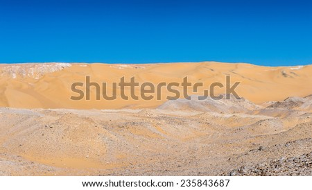 Sand dune in the desert in Egypt - stock photo