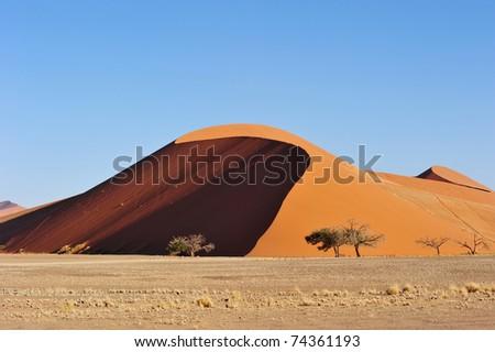 Sand dune Namibia - stock photo
