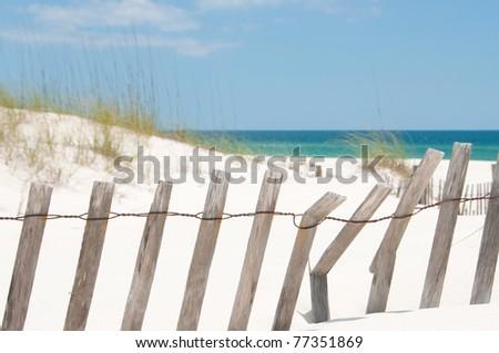 sand dune on Perdido Key, Florida - stock photo