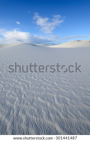 Sand Dunes and Blue Sky - stock photo