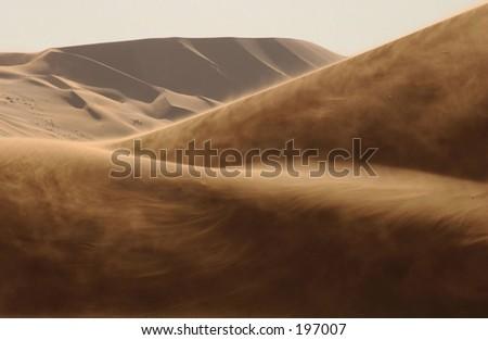 Sand dunes in the desert, Namibia, Africa - stock photo