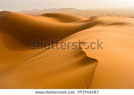 Sand dunes in the Sahara Desert, Merzouga, Morocco - stock photo