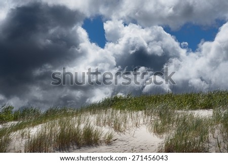 Sand dunes in Ventspils, Latvia - stock photo