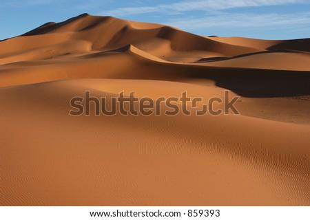 Sand dunes of Erg Chebbi in the Sahara Desert, Morocco - stock photo