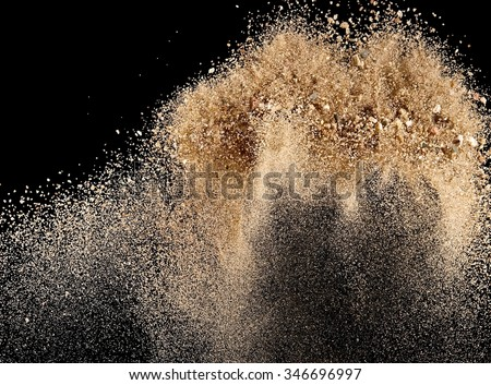 Sand explosion - stock photo
