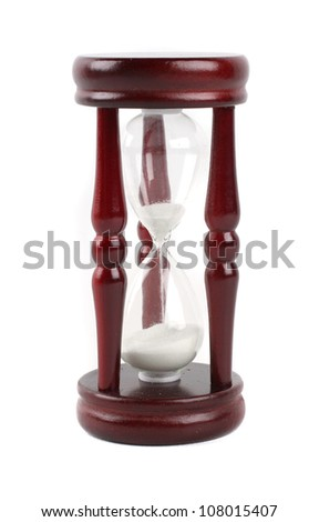 sand glass on white - stock photo