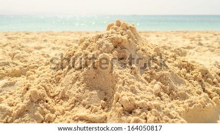 sand heap - stock photo