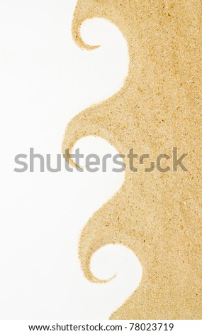 sand  isolated  . Beach sand . - stock photo