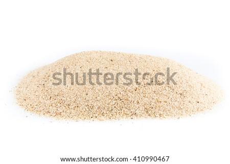 sand isolated on white - stock photo