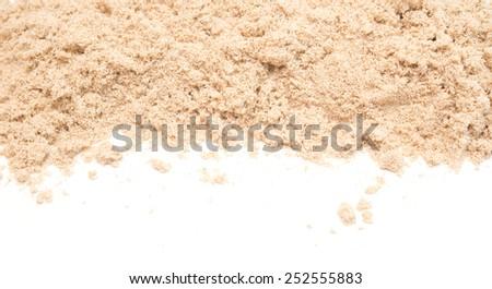 sand isolated on white background - stock photo