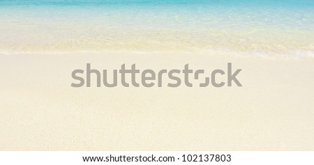 sand of beach andaman sea - stock photo