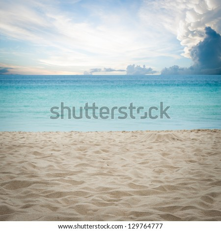 sand of beach Thailand sea - stock photo