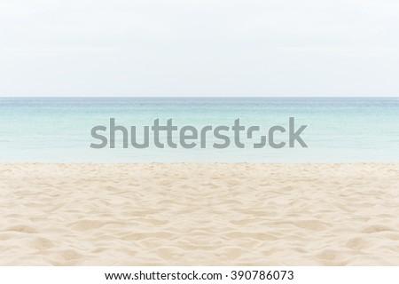 sand of beach Thailand sea - stock photo