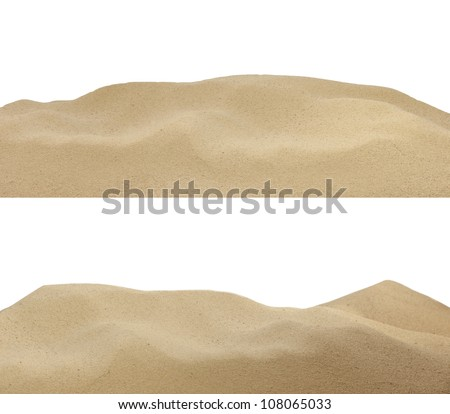 sand on the beach background texture isolated - stock photo