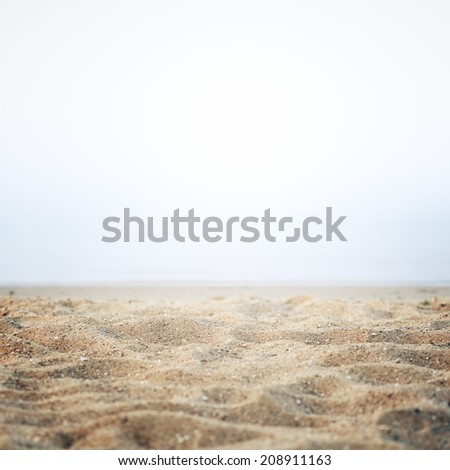 Sand on the shore background abstract - stock photo