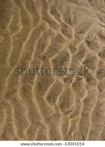 Sand patter after gale - stock photo