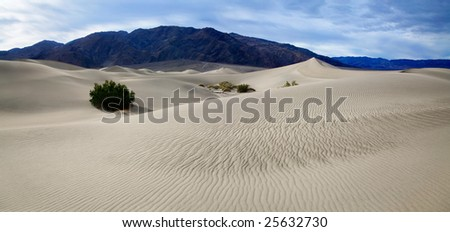 Sand Ripples, Death Valley National Park, California - stock photo
