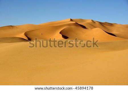 Sand sea, Libya - stock photo