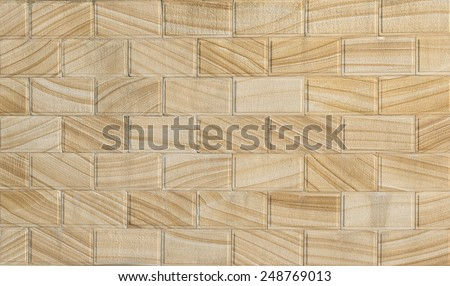 sand stone blocks wall background - stock photo