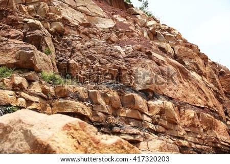 Sand stone texture - stock photo