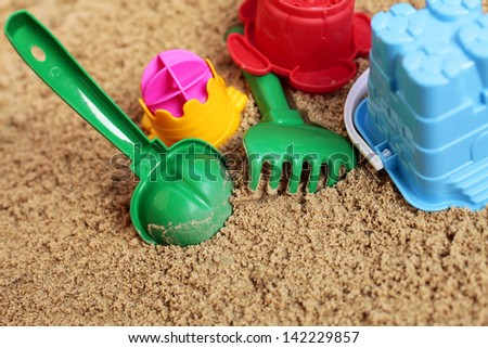 Sand Toys - stock photo