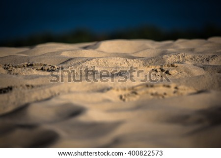 Sand waves on the highest dune in Europe - Dune of Pyla (Pilat), Arcachon Bay, Aquitaine, France - stock photo
